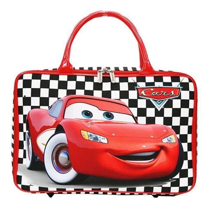 Onlan Travel Bag Cars Red Bahan Kanvas Halus Import