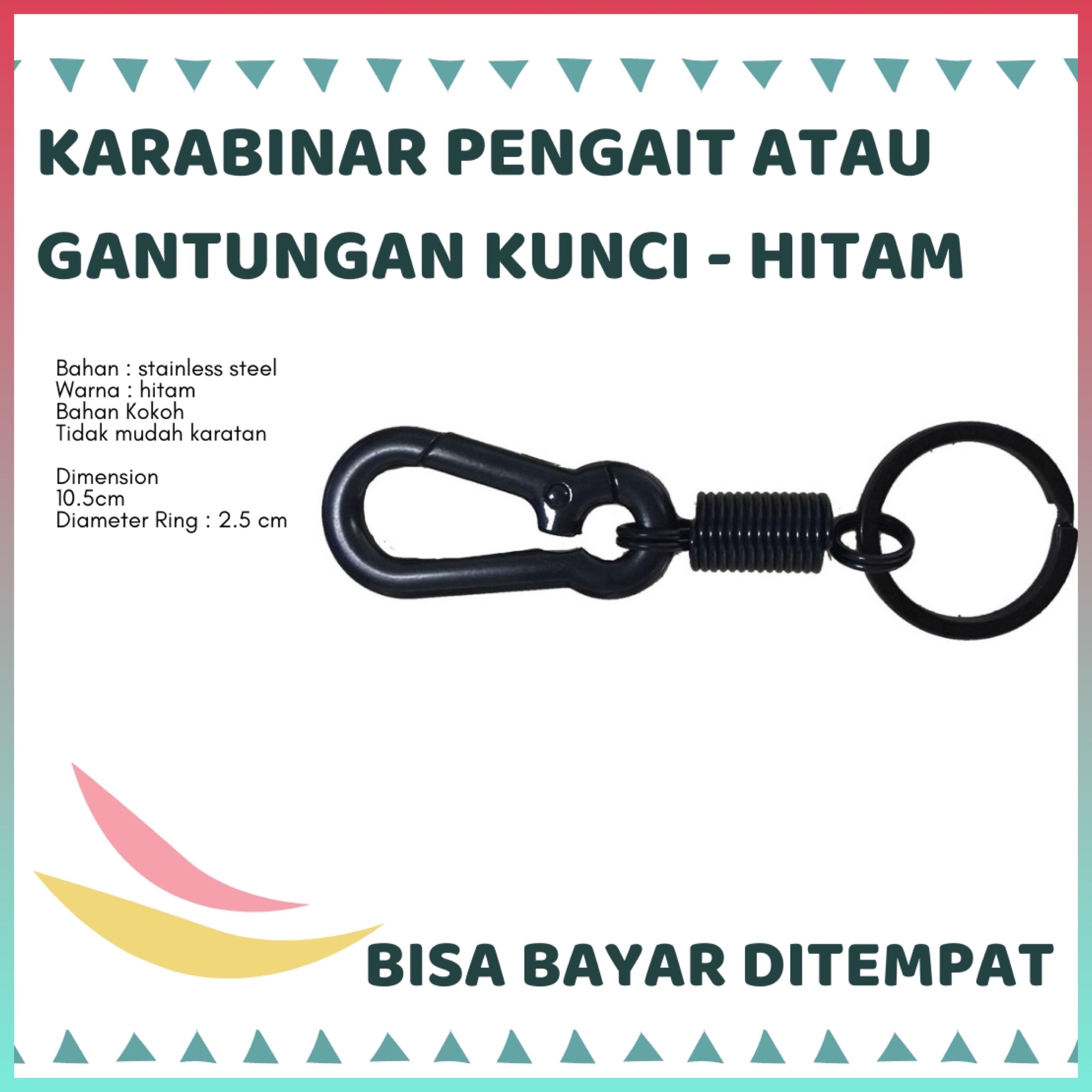 [ siap kirim ] gantungan kunci pengait kunci stainless steel ( super tebal )