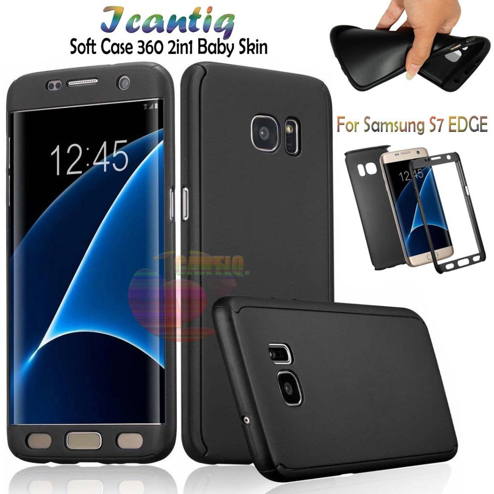Icantiq Case Samsung Galaxy S7 EDGE Premium Front Back 360 Degree Full Protection Softcase Samsung S7