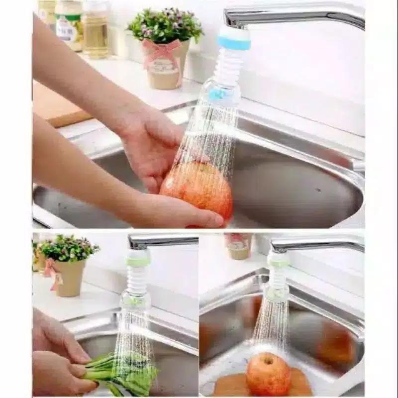 kado unik– sambungan kran air wastafel elastis / kepala kran sprayer / shower keran flexible  / kado ulang tahun