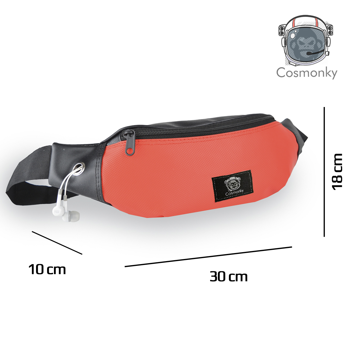 promo tas pinggang waistbag cosmonky piston /tas kulit / crossbody bags / tas selempang casual / tas organizer / tas /revers