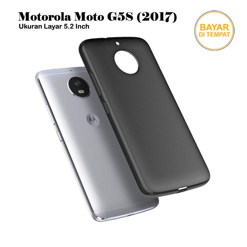 four-u casing handphone / softcase anti minyak baby skin case black matte ultra slim untuk motorola moto g5s () 5.2″ / xt1793 / xt1794 / xt1795 – hitam