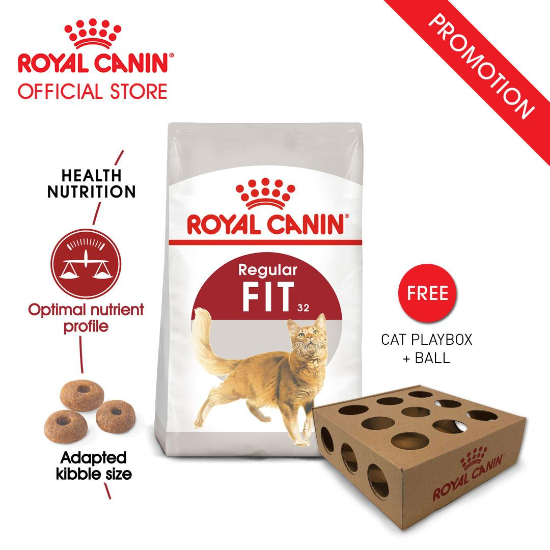 Royal Canin Fit 32 Makanan Kucing Dewasa Dry 2kg Free Cat Playbox