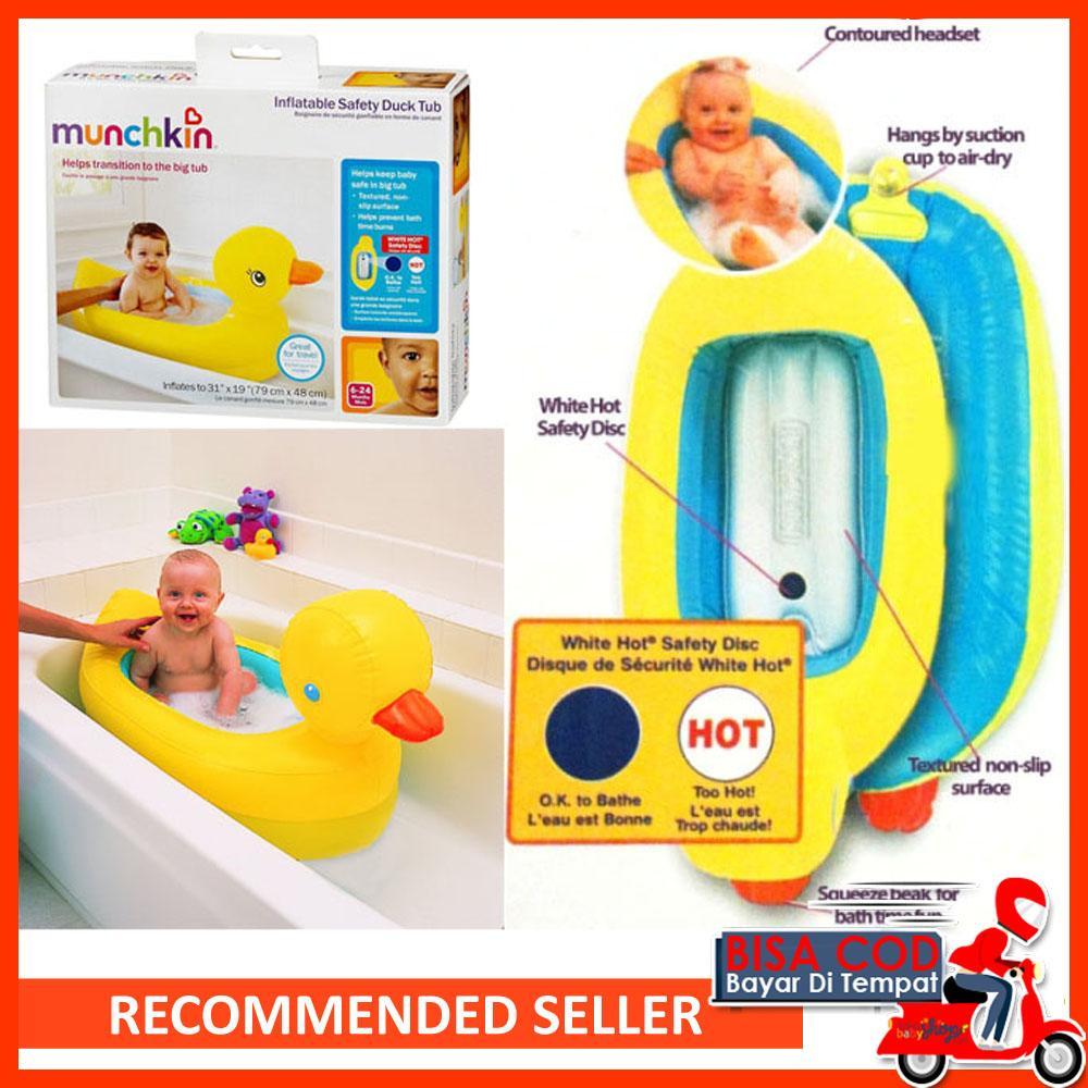 [ BISA COD / BAYAR DI TEMPAT ] Kolam Bebek Munchkin Baby Inflatable Safety Duck Tub