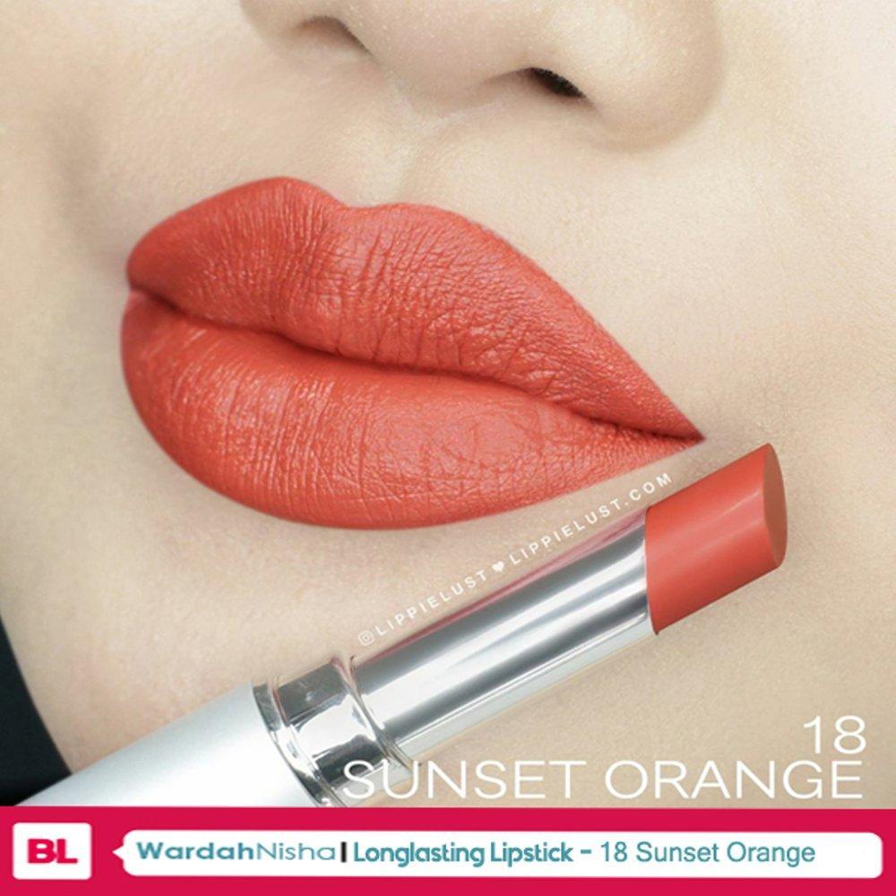 Wardah LONGLASTING Lipstick No.18 Sunset Orange