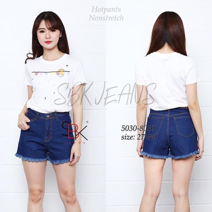 [27-34 SBK 5030 HW Garment Hotpants Rumbai DF] Celana Jeans Wanita /