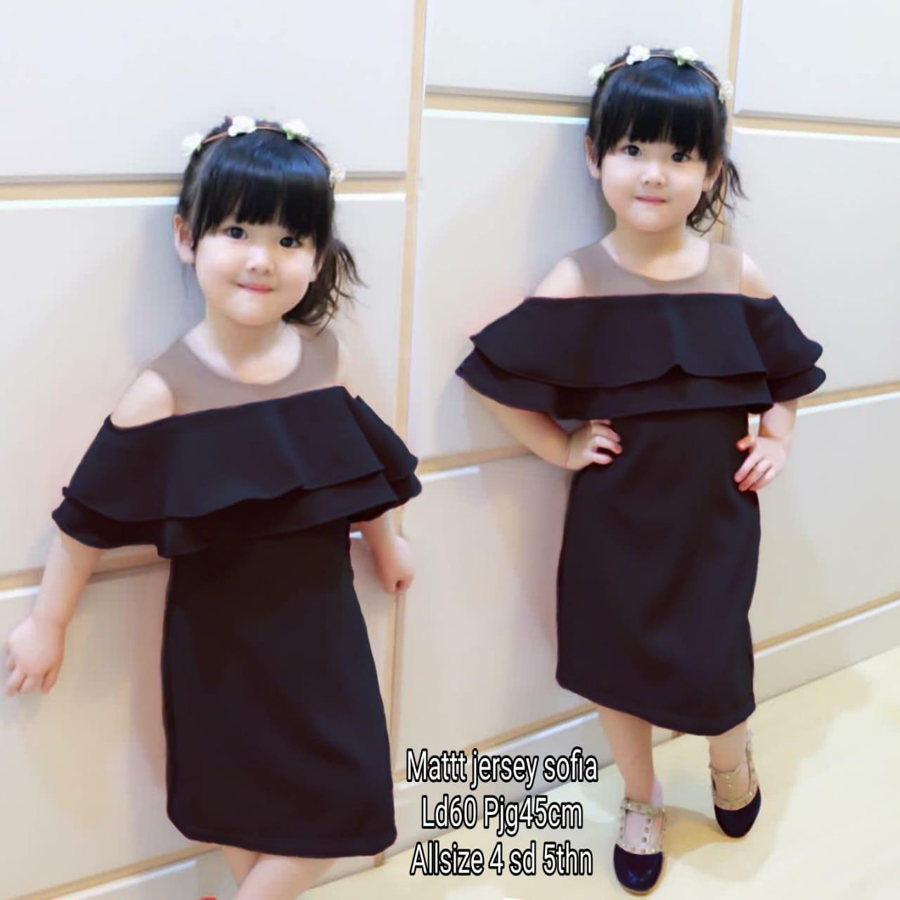 MJ Dress Anak Sabrina Tile Kids - Sofia
