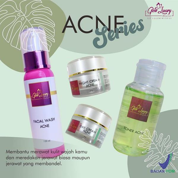 paket glow luxury skincare bpom acne series