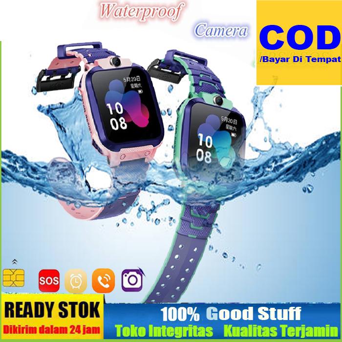 diskon original – imoo watch phone z5 pink/biru imo z5 video jam tangan sos call anak anti hilang garansi tahan air kabel cas magnet renang  –  rama 88