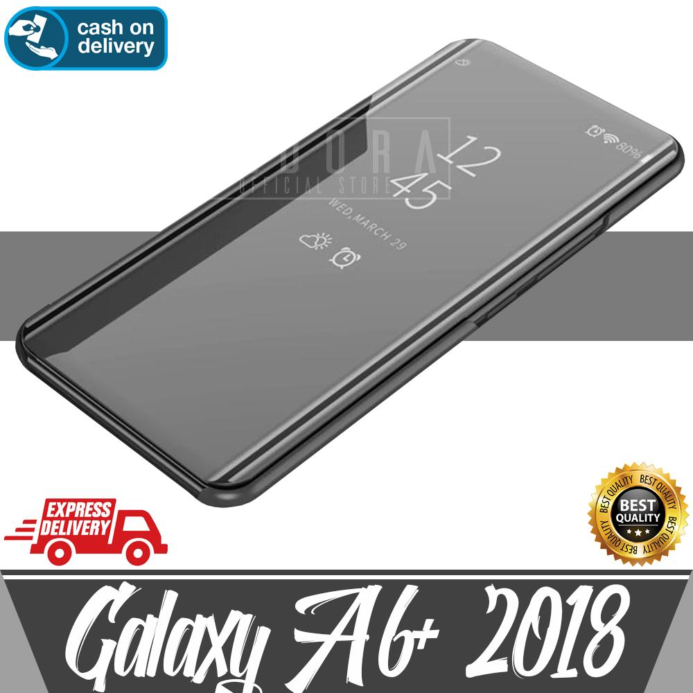 Features Aldora Case For Oppo F9 Clear View Mirror Cover With Kick