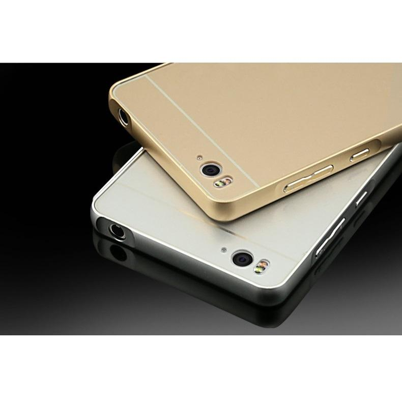 ... Aluminium Bumper Case with Arcylic Back for Xiaomi Mi4i / Mi4c - Golden - 5