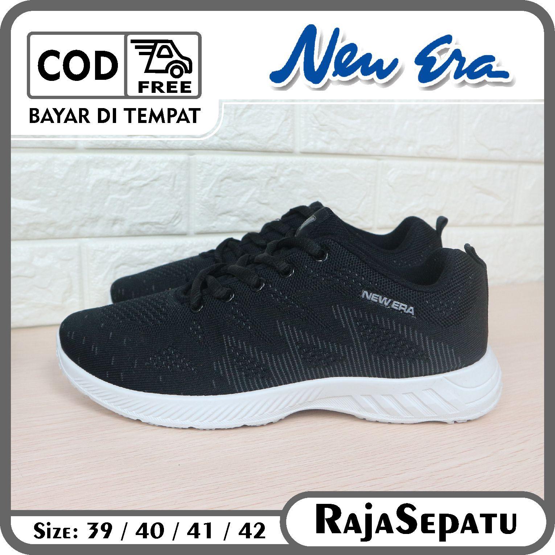 rajasepatu – new era sepatu pria renald hitam abu 39-42 / sepatu lari / sepatu joging / sepatu badminton / sepatu badminton / / sepatupria  raja