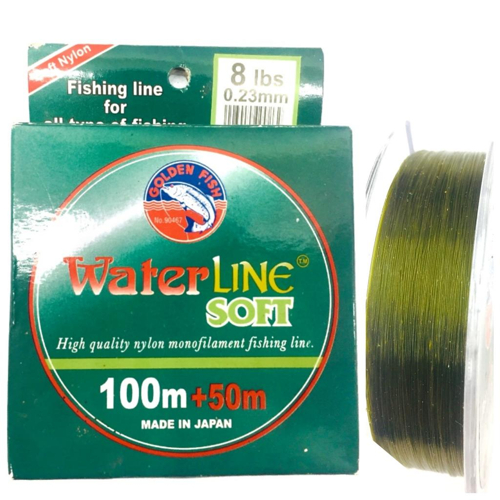 senar pancing goldenfish waterline soft monofilament japan150m