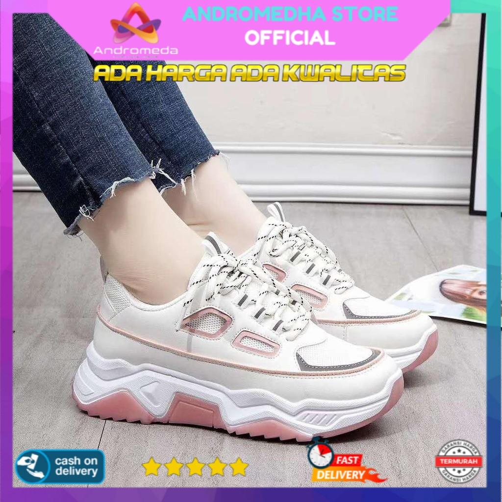 bisa cod real pict sepatu sneakers wanita k-01