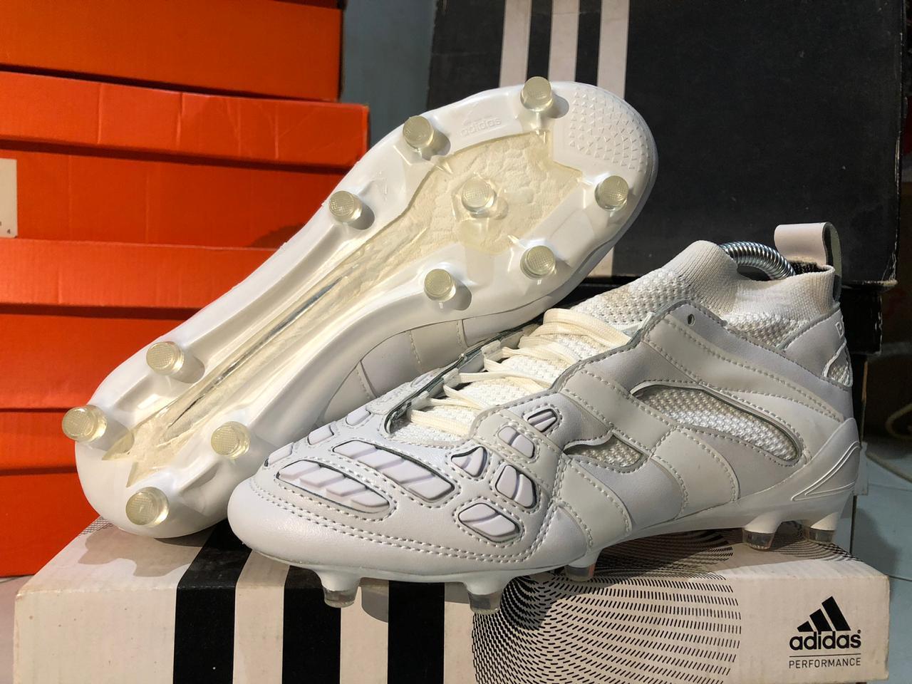 Baru 2019 Sepatu Bola Predator Accelerator Beckham FG - White - 2 ...