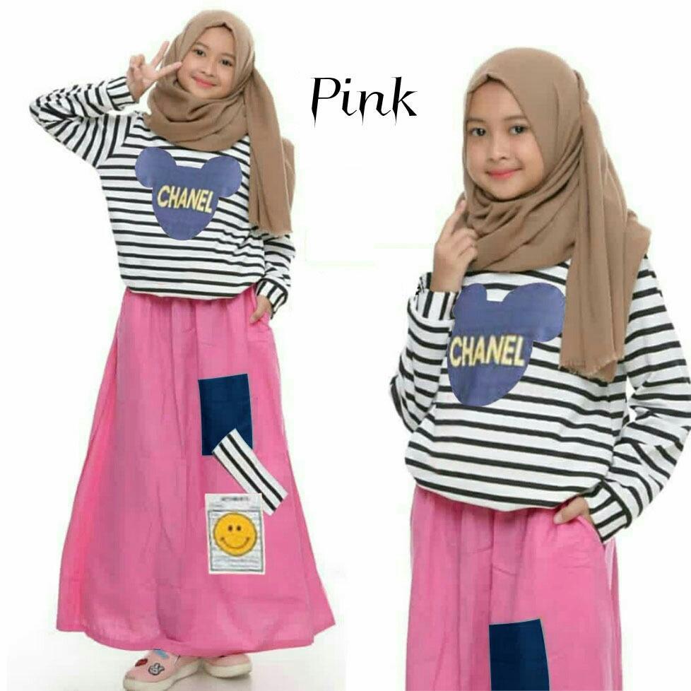 baju anak perempuan muslim  2020 setelan kid chena / setelan anak perempuan / rok anak / atasan anak/ fashion anak perempuan