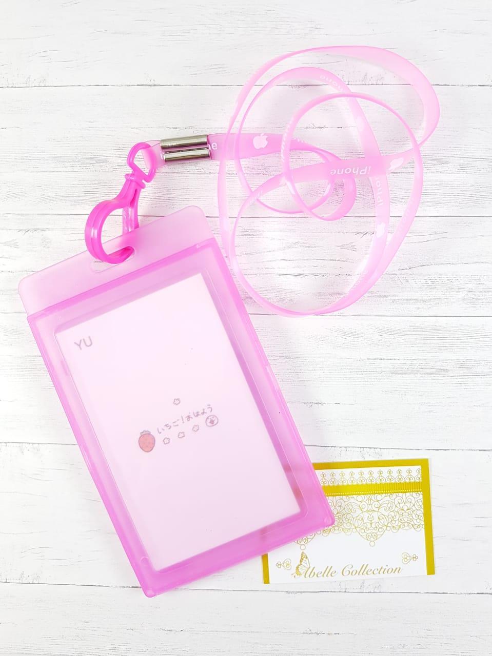 1 ( SATU ) PCS TALI ID CARD TEBAL / Tempat Kartu / Card Holder Id