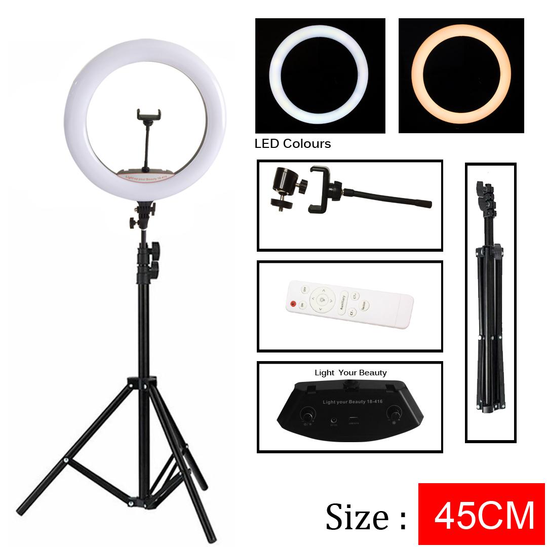lampu led 45cm ring light studio selfi  vlog tiktok live lampu ringlight tripod