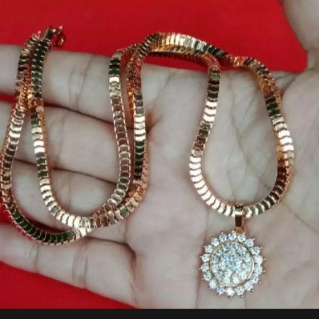 perhiasan pengganti emas – set kalung liontin permata lp5
