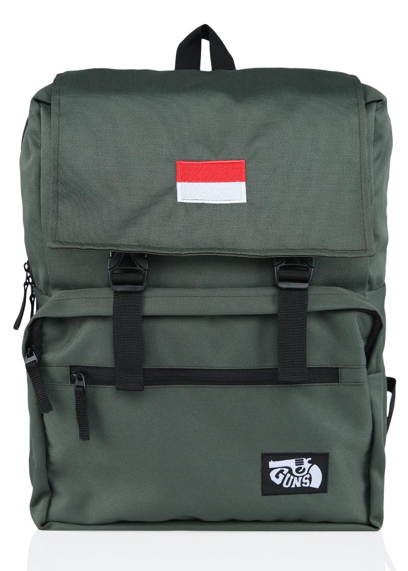 tas pria tas ransel pria bordir bendera  keren tas sekolah tas laptop  distro original