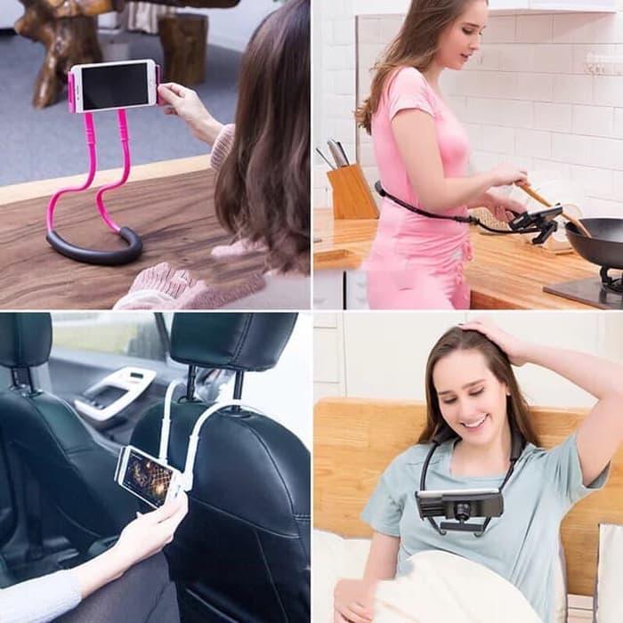 lazy neck LAZY HANGING NECK PHONE HOLDER LEHER HP LAZYPOD LAZY NECK POD / Holder Leher