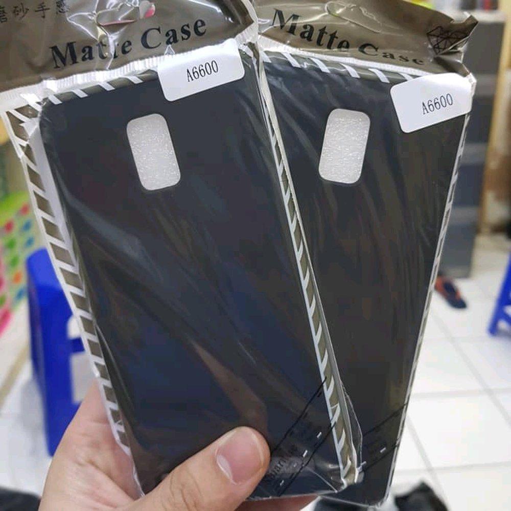 Case Slim Black Matte Compatible For Lenovo A6600 Softcase Anti minyak