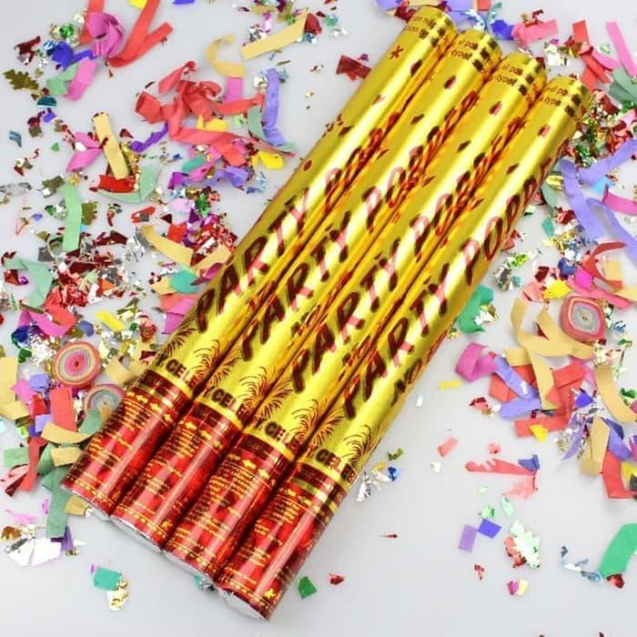 Party Popper / confetti 30 / petasan pesta semburan kertas warna manik