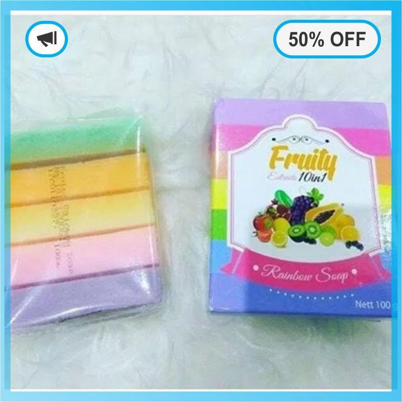 ... TERLARIS - Fruity Rainbow Soap 10 in 1 Whitening Soap Fruitamin Sabun Pemutih Badan - Memudarkan ...