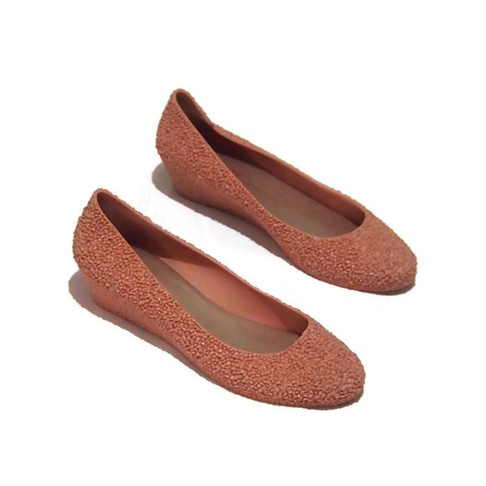 ... Flat Shoes Bara Bara - Sepatu Balet Wedges Closed-Toe Wedges Wanita Warna Dikirim Random ...