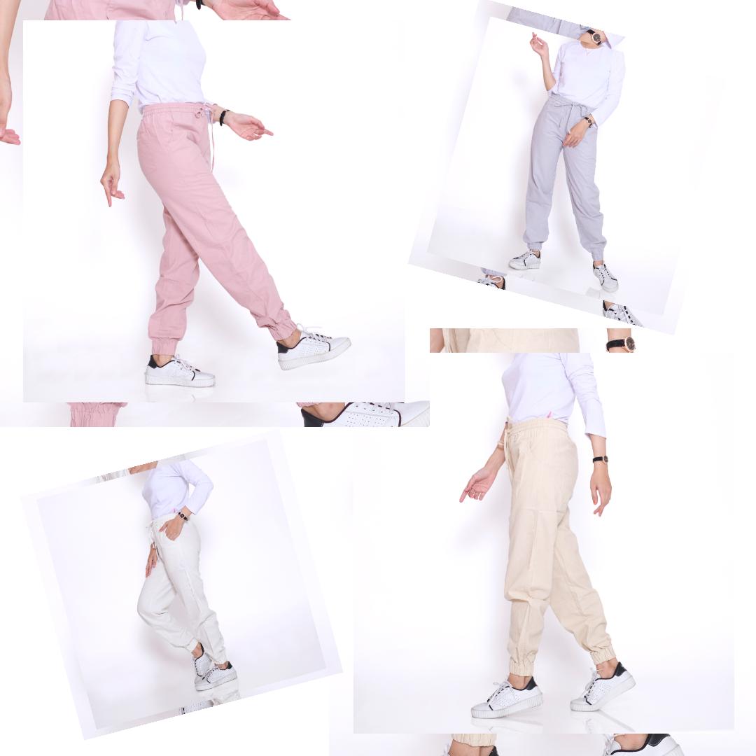 haymeestore celana jogger jumbo panjang wanita bawahan joger jumbo casual cewe bahan linen premium