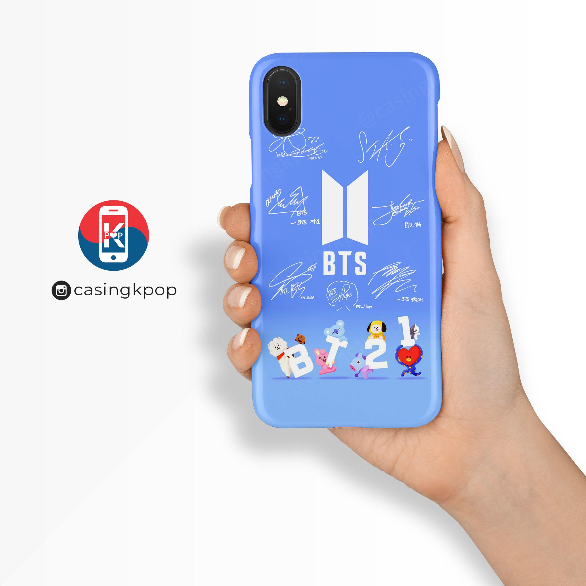 Review Casing Handphone Kpop Bt21 With Sign Dan Harga