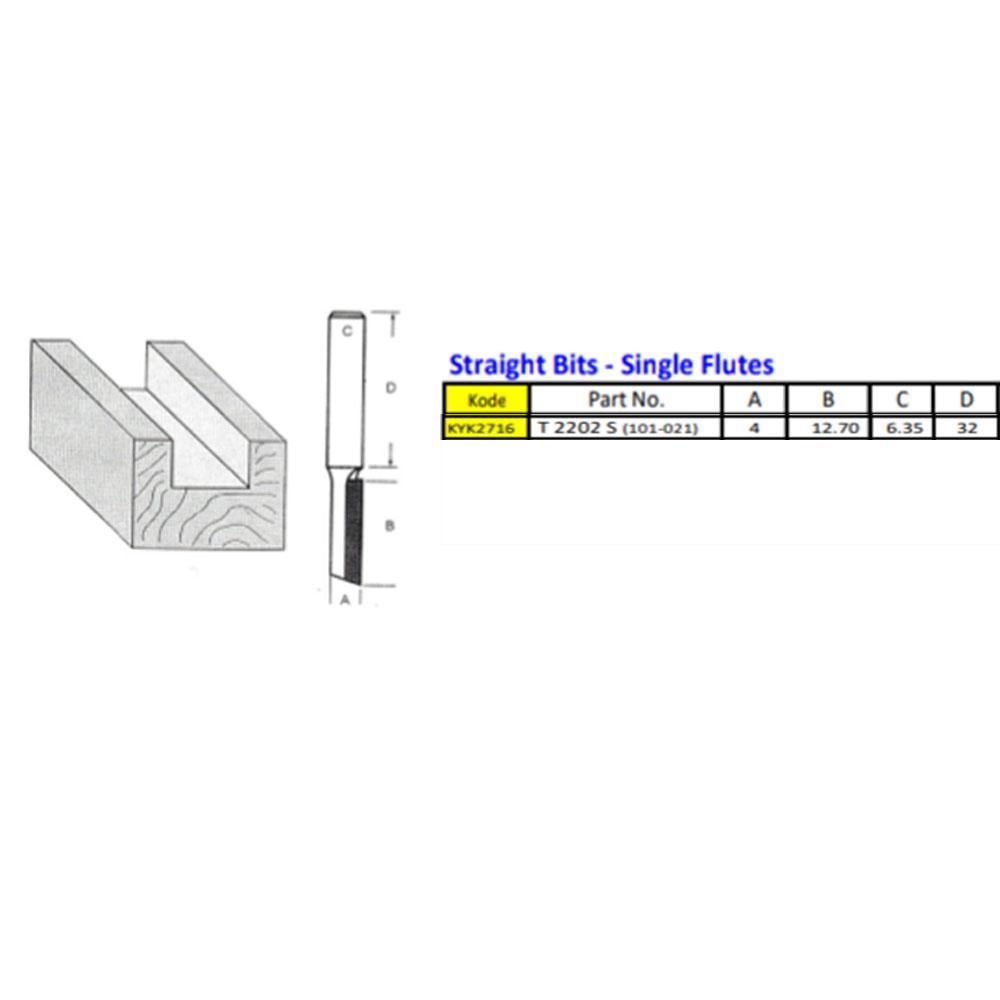 Detail Gambar KYK MATA PROFIL KAYU LURUS STRAIGHT BIT 4 MM / MATA MESIN PROFIL WOOD TRIMMER ROUTER SATU MATA Terbaru
