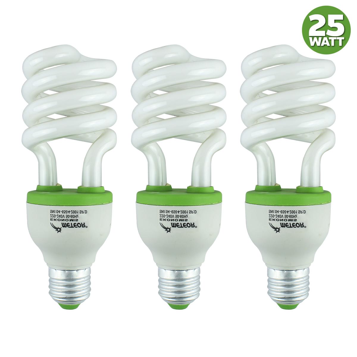 weitech lampu hemat energi spiral 3 pcs 35w/30w/25w putih