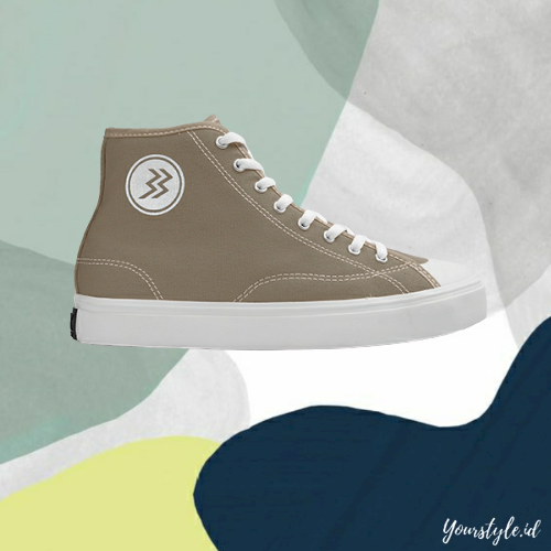 yourstyle.id – sepatu pria sneakers casual trendy original geoff max type timeless hi olive grey kuning white