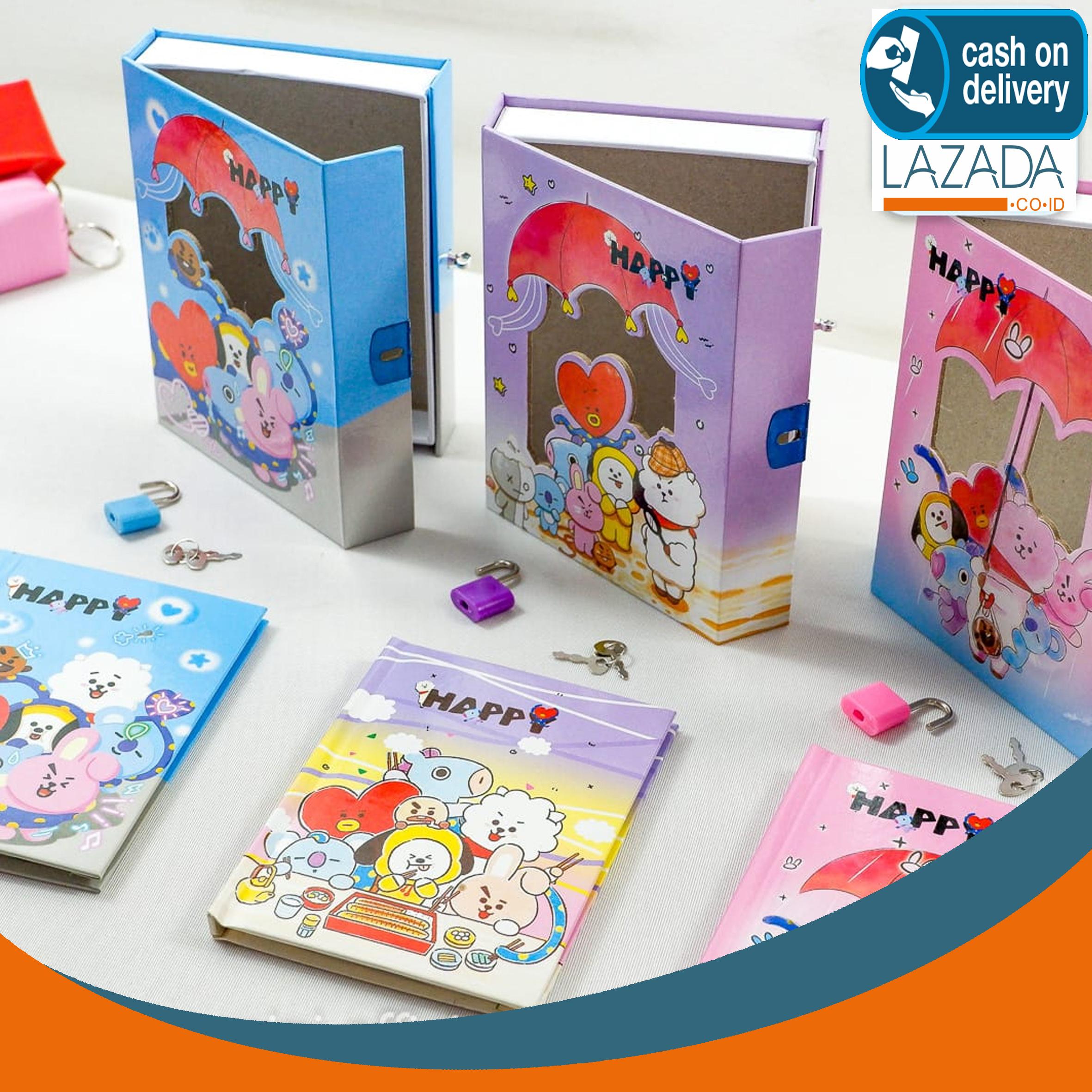 diary bt21 gembok notebook bts bt21 tata cooky chimmy mank koya shooky rj van