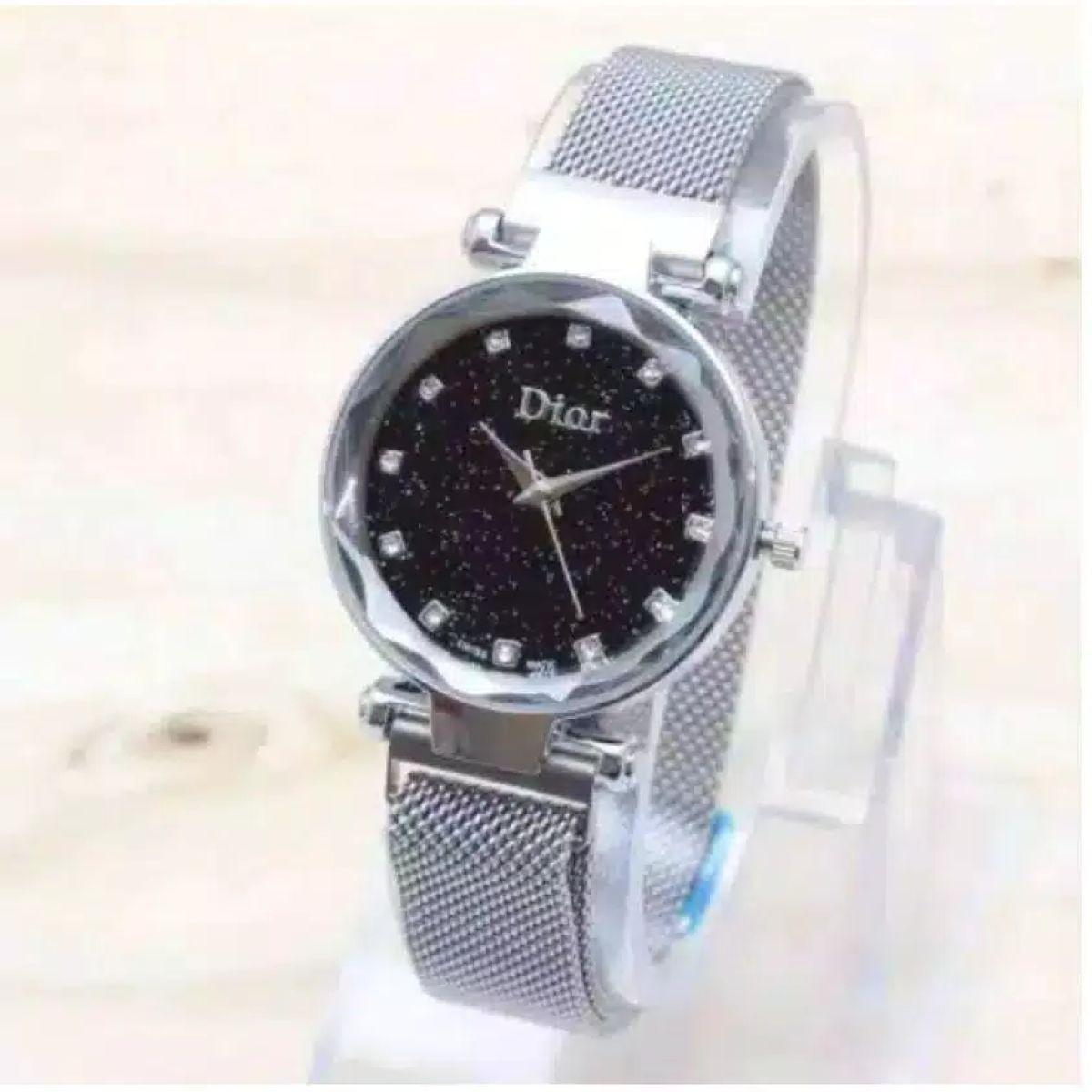 wg-[✅cod] jam tangan wanita d1or magnet permata diamond casual styles fashion wanita