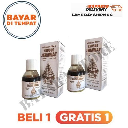 1 gratis 1 obat jerawat cap wayang ampuh menghilangkan jerawat / minyak oles khusus jerawat cap wayang / obat jerawat – 35ml