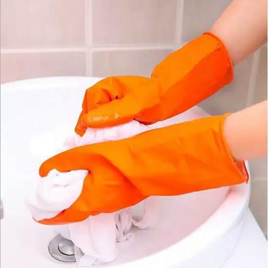 Sarung Tangan Karet Pencuci Cuci Piring Anti Air Rubber Glove Mirip Sensi Latex Murah Berkebun
