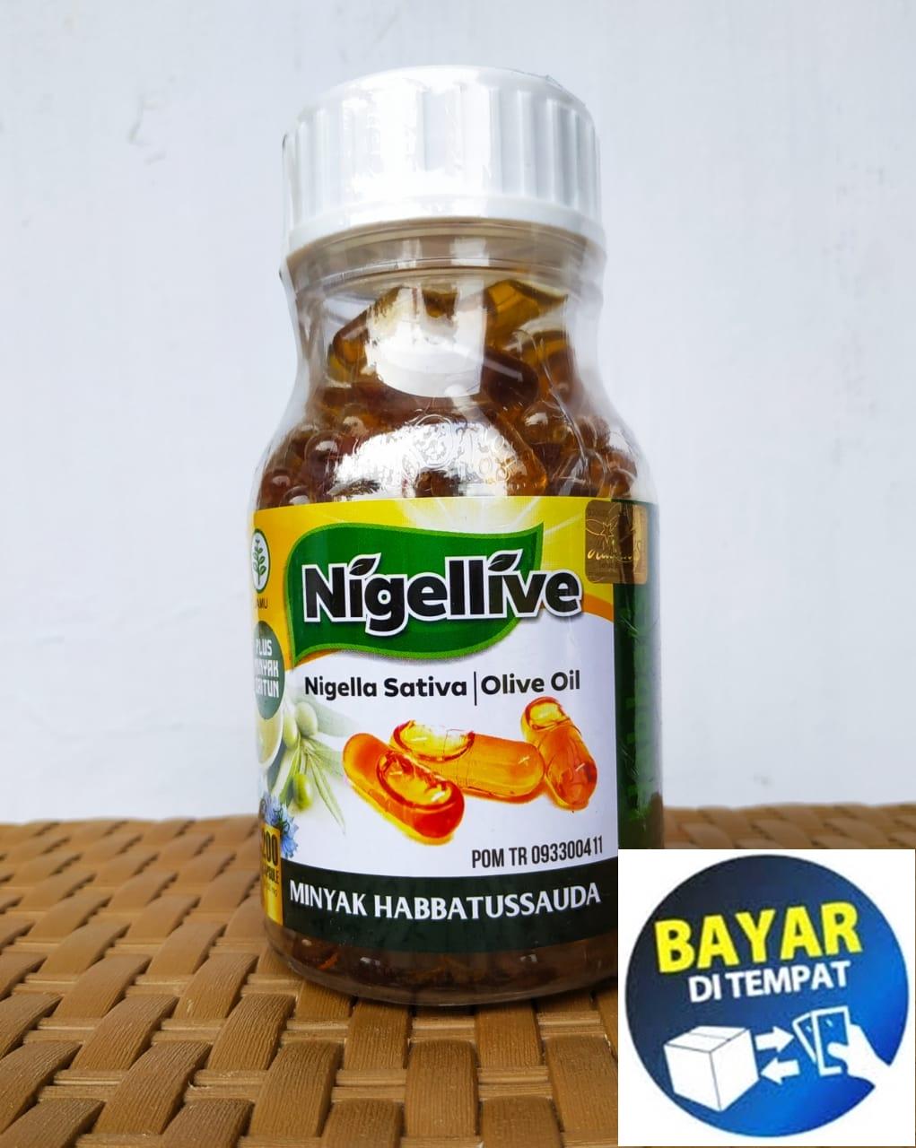 habbatussauda oil nigellive 200 kapsul original minyak habbatusauda plus zaitun