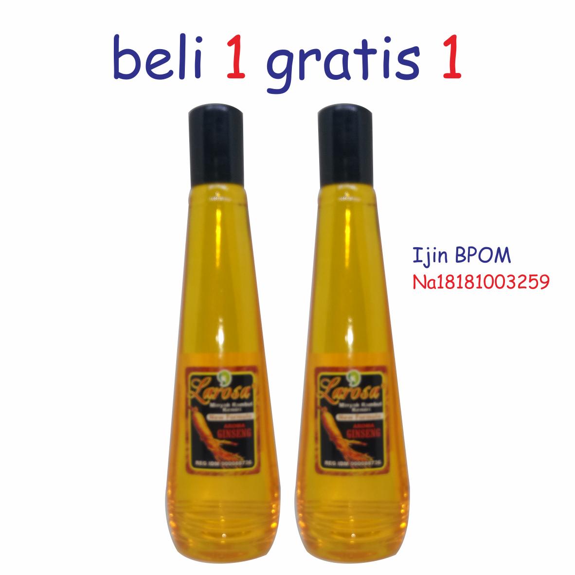 minyak kemiri larosa penumbuh rambut aroma ginseng – 100ml  x 2 botol