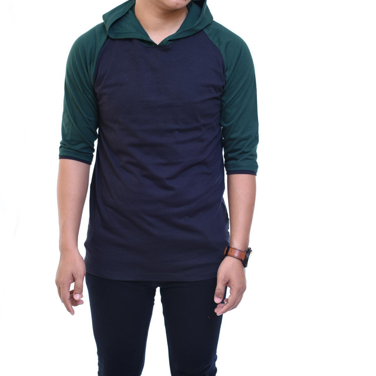 ... Panjang Biru Dongker. Source · Zos T-Shirt Sweater Hoodie Atasan Pria Jumper Polos Lengan Raglan Pendek Fashion Kaos Distro