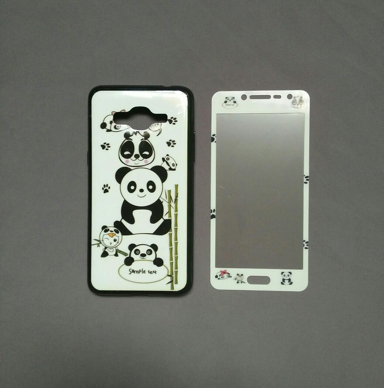 Case / Softcase 360 Cewek + Tempered Glass Motif For Samsung J2 Prime-- S C