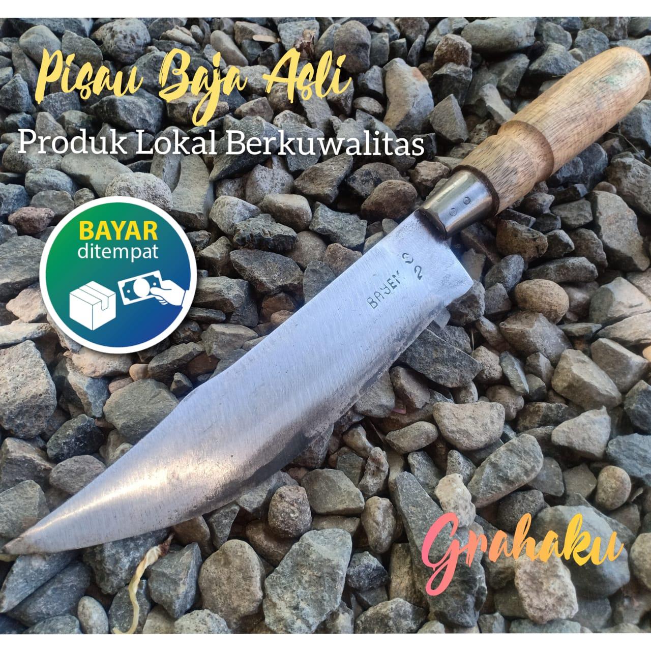 pisau daging sedang – pisau dapur tajam – pisau cacah daging full baja – bedog cacah daging tulang