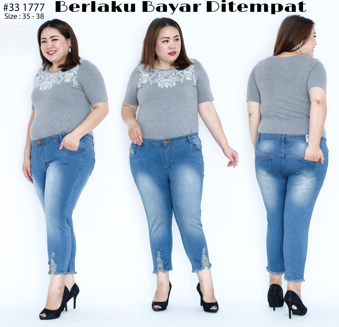 ✅cod bia – celana jeans 7/9 nagita premium / celana jeans model kaki nagita