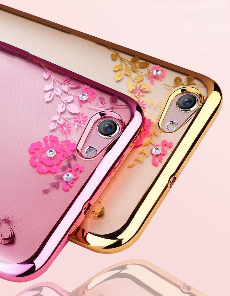 ... TPU FLOWER Case Oppo F5 - F5 Youth softcase casing bunga cover ultra thin transparan silicone
