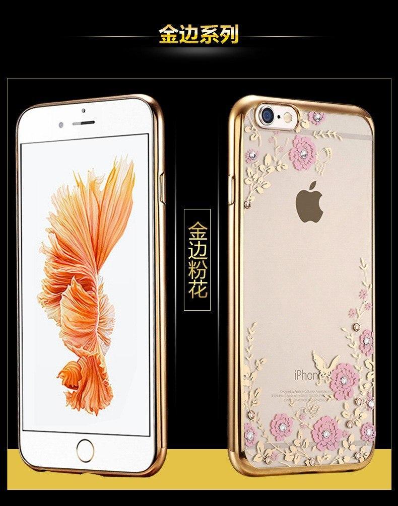 Detail Gambar TPU FLOWER Case Apple iPhone 6 6s softcase casing bunga cover ultra thin transparan silicone tipis Terbaru