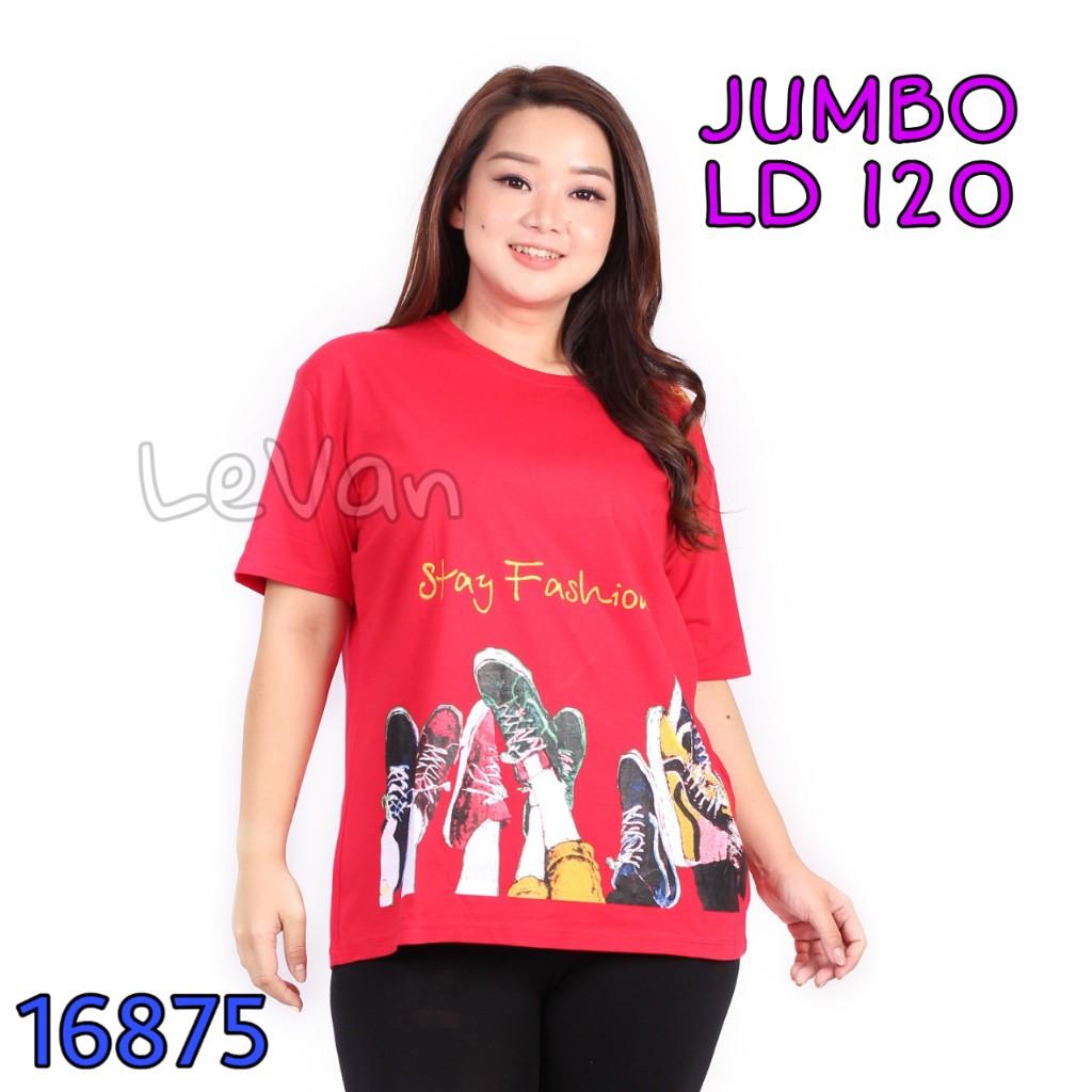 levan 16875 – kaos wanita jumbo xxxl ld 120 kekinian  lengan pendek baju tshirt t-shirt t shirt cewe cewek distro import korea ibu ibu big size bigsize 3xl model  warna merah maron