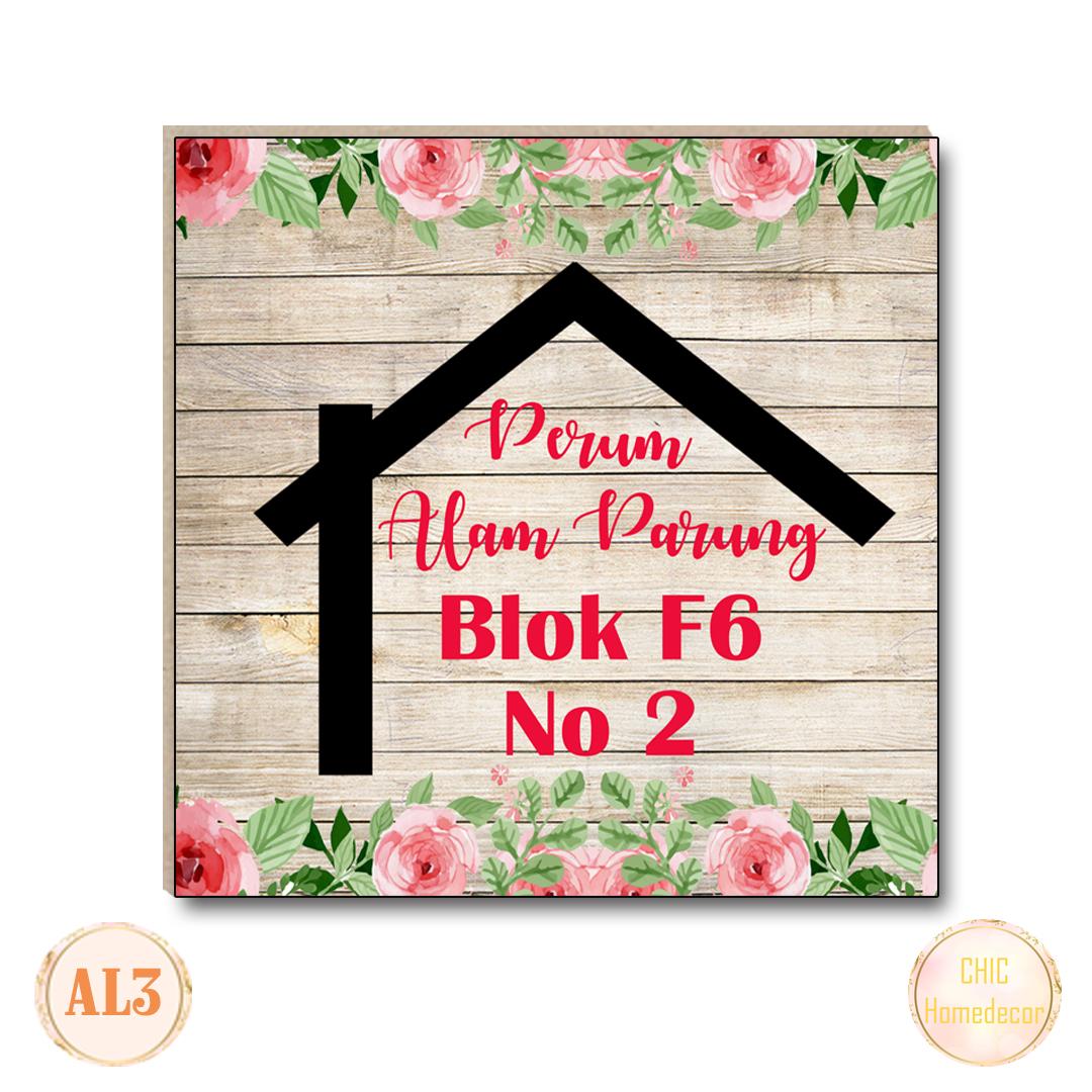 chic homedecor hiasan dinding custom alamat rumah walldecor pajangan dinding al09