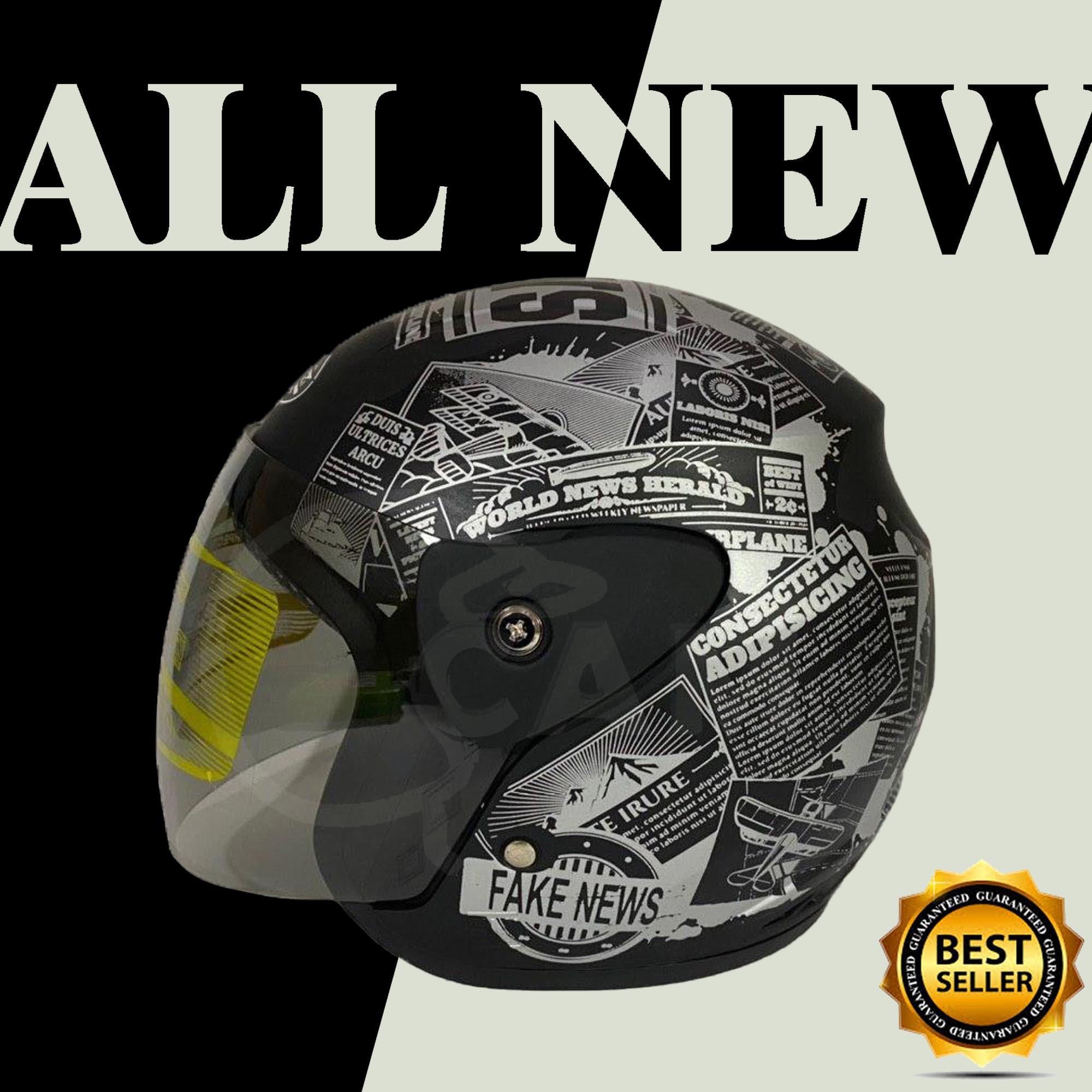 helm motor evo koran black doff sni bukan gm