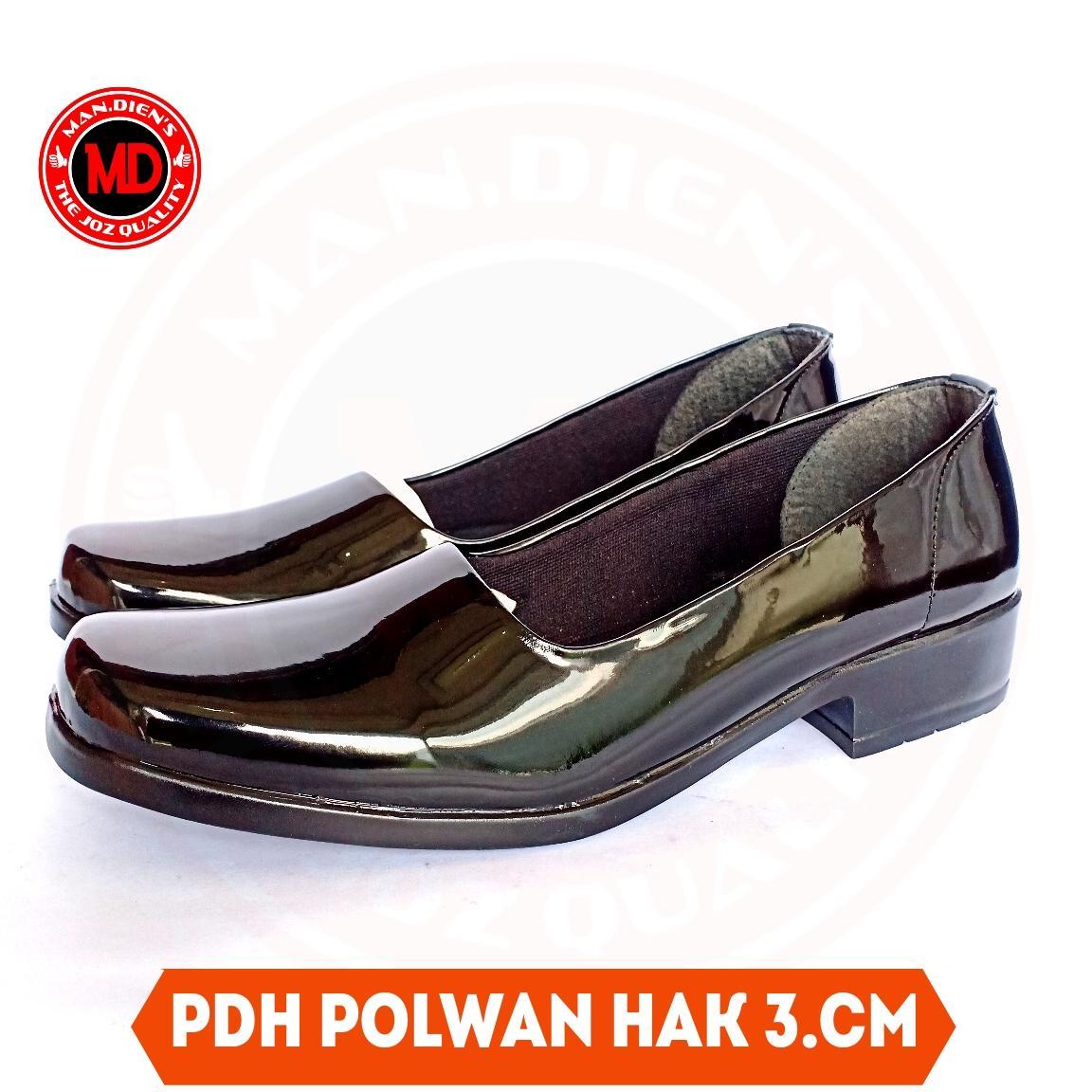 mandiens pdh polwan kilap 3cm – sepatu wanita bayangkari – kowad – sepatu pns – sepatu psg – sepatu psk – sepatu psh